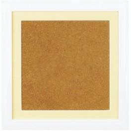 Ramka drewniana - kolor biały - ecru psp (19x19cm)