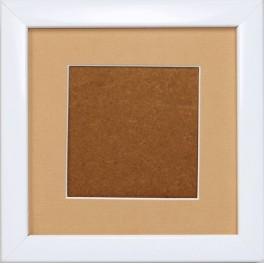 Ramka drewniana - kolor biały - beżowe psp (13,2x13,2cm)