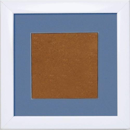 Ramka drewniana - kolor biały - lawendowe psp (13,2x13,2cm)