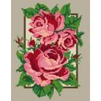 Wzór graficzny - Róże w ramce
