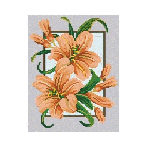 Wzór graficzny - Lilie w ramce