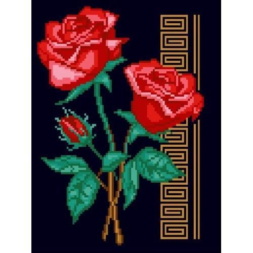 Wzór graficzny - Czerwone róże