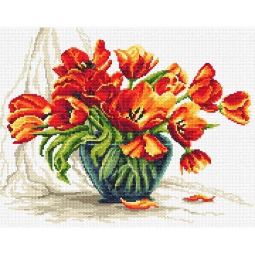 Wzór graficzny - Urzekające tulipany