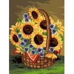 Wzór graficzny - Słoneczniki w koszu