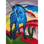 Wzór graficzny - Niebieski koń - F. Marc