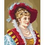 Wzór graficzny - Portret - dama