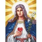 Wzór graficzny - Serce Matki Boskiej