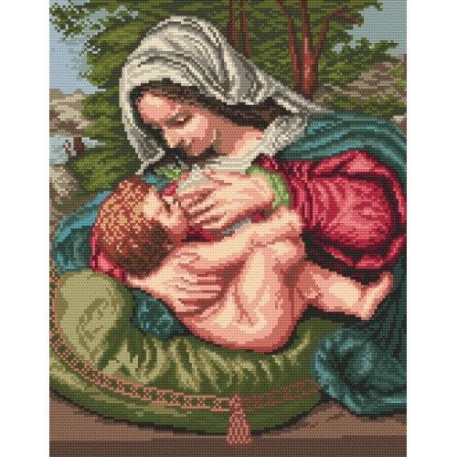 Wzór graficzny - Matka Boska Karmiąca