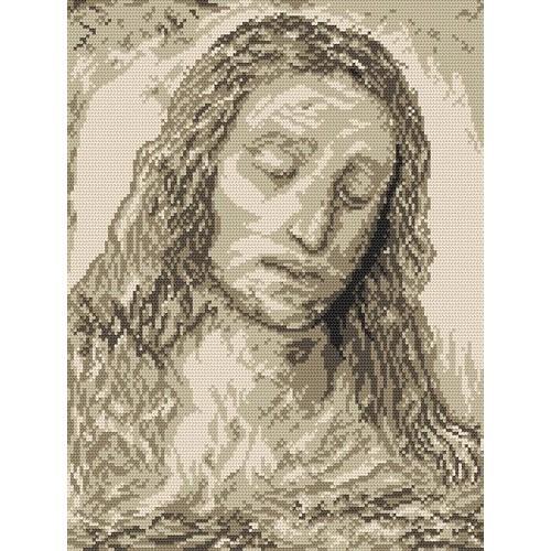 Wzór graficzny - Głowa Chrystusa - L. da Vinci