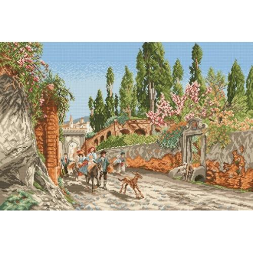 Wzór graficzny - Wiosna w Rzymie