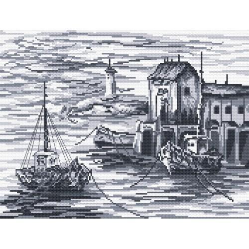 Wzór graficzny - Kutry rybackie