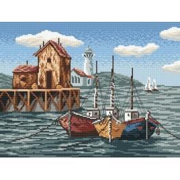 Wzór graficzny - Kutry w zatoce