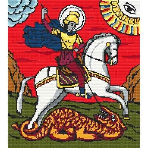 Wzór graficzny - święty Jerzy