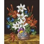 Wzór graficzny - Kwiaty w wazonie