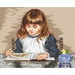 Wzór graficzny - Dziewczynka z książką