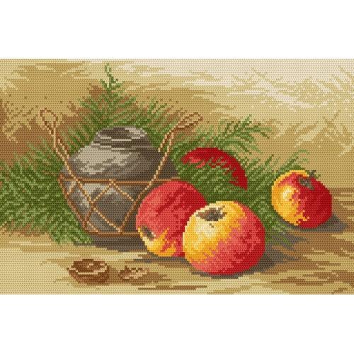 Wzór graficzny - Martwa natura z jabłkami