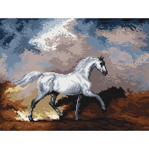 Wzór graficzny - Konie w Burzy - S. Gilpin