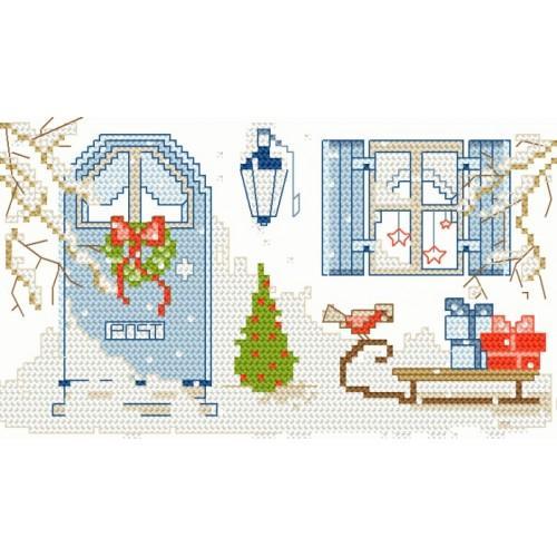 Wzór graficzny - Ganek zimą
