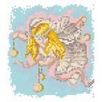 Wzór graficzny - Aniołek z ozdobami świątecznymi