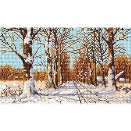 Wzór graficzny - Droga wśród drzew