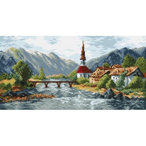 Wzór graficzny - Górskie miasteczko