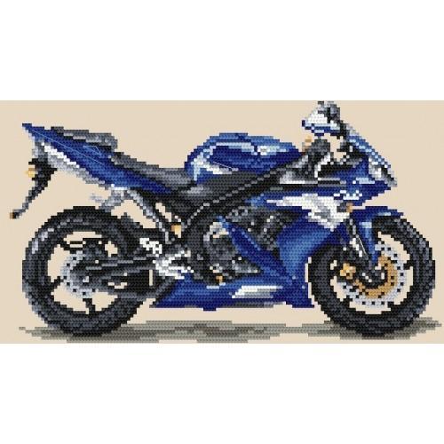 Wzór graficzny - Motocykle - błękitna błyskawica