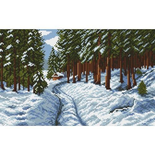 Wzór graficzny - Droga przez las