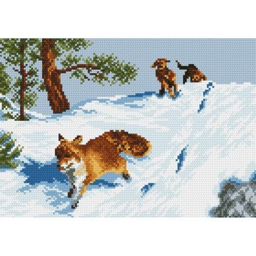 Wzór graficzny - Pogoń za lisem