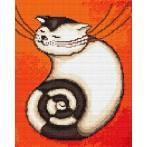 Wzór graficzny - Zakręcony kociak