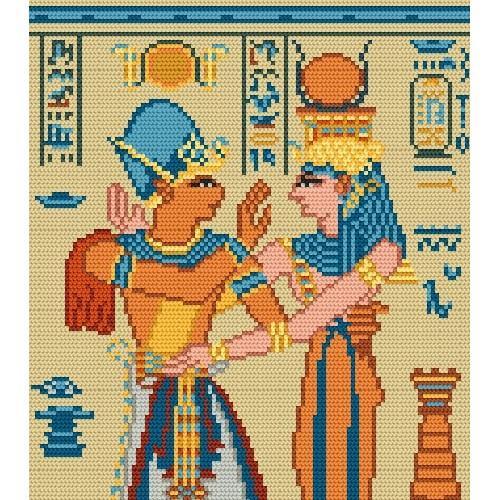Wzór graficzny - Egipski fresk