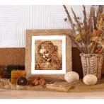 Wzór graficzny - Głowa kobiety - L. da Vinci