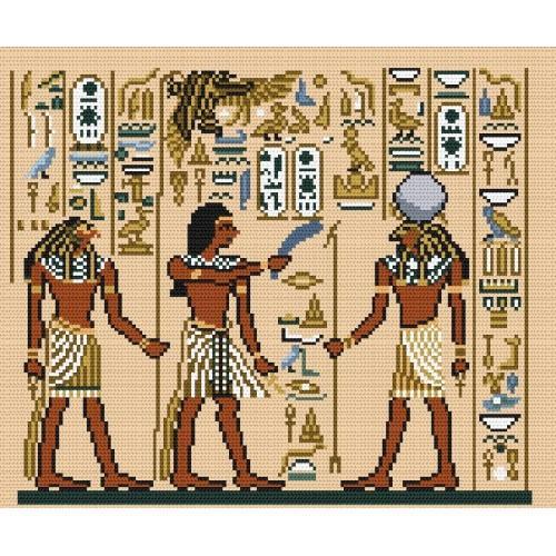 Wzór graficzny - Egipskie malowidło