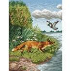 Wzór graficzny - Polujący lis