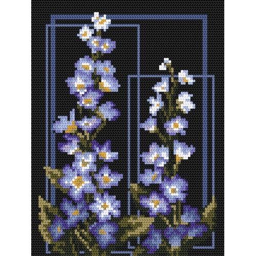 GC 4576 Wzór graficzny - Delphinium - B. Sikora-Małyjurek