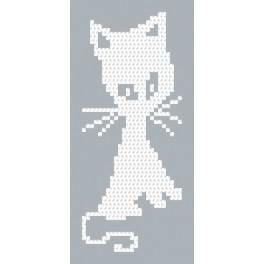Wzór graficzny - Biały kotek