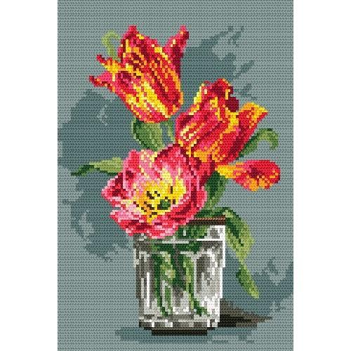 Wzór graficzny - Tulipany