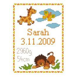 GC 4429 Wzór graficzny - Moje narodziny - Dzikie zwierzątka
