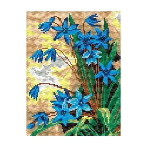 Wzór graficzny - Wiosenne kwiaty