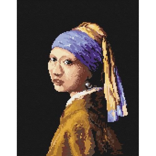 Wzór graficzny - Dziewczyna z perłą - J.V. van Delft