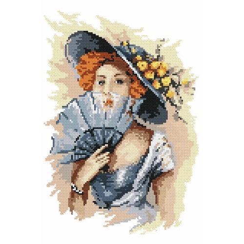 Wzór graficzny - Portret damy - B. Sikora-Małyjurek