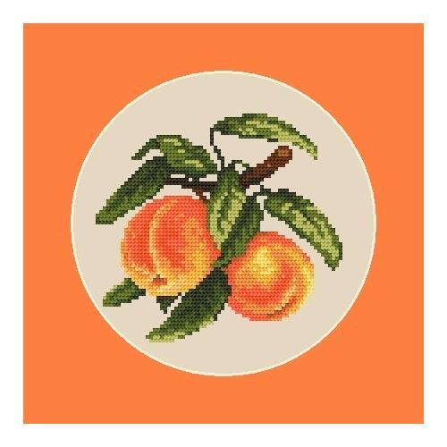 Wzór graficzny - Soczyste brzoskwinie - B. Sikora-Małyjurek
