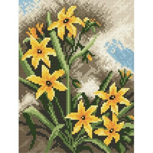 Wzór graficzny - żółte kwiaty