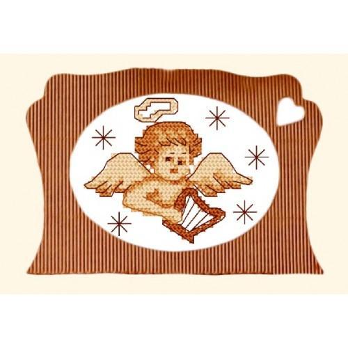 Wzór graficzny - Aniołek z harfą