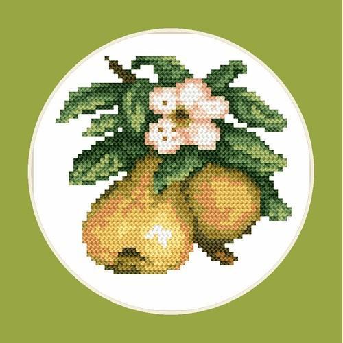Wzór graficzny - Smakowite gruszki - B. Sikora-Małyjurek