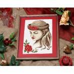 Wzór graficzny - Dziewczyna w kapeluszu