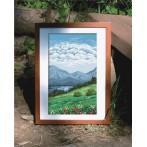 Wzór graficzny - Tryptyk - Górskie jeziorko