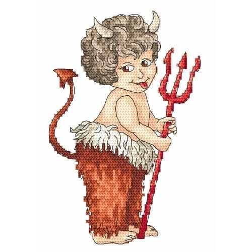Wzór graficzny - Diabełek