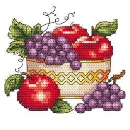 Wzór graficzny - Misa z jabłkami
