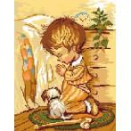 Wzór graficzny - Modlitwa chłopca