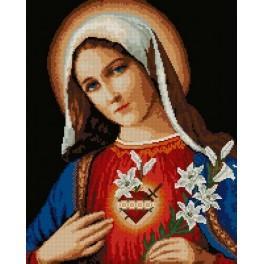 Wzór graficzny - Niepokalane serce Maryi